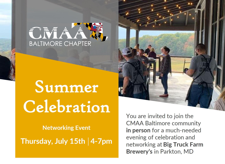 CMAA Networking at Big Truck - mini flyer for social media